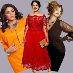 Новогодние платья для полных - мода 2016