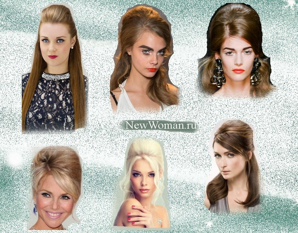 Новогодняя прическа на короткие волосы женские фото