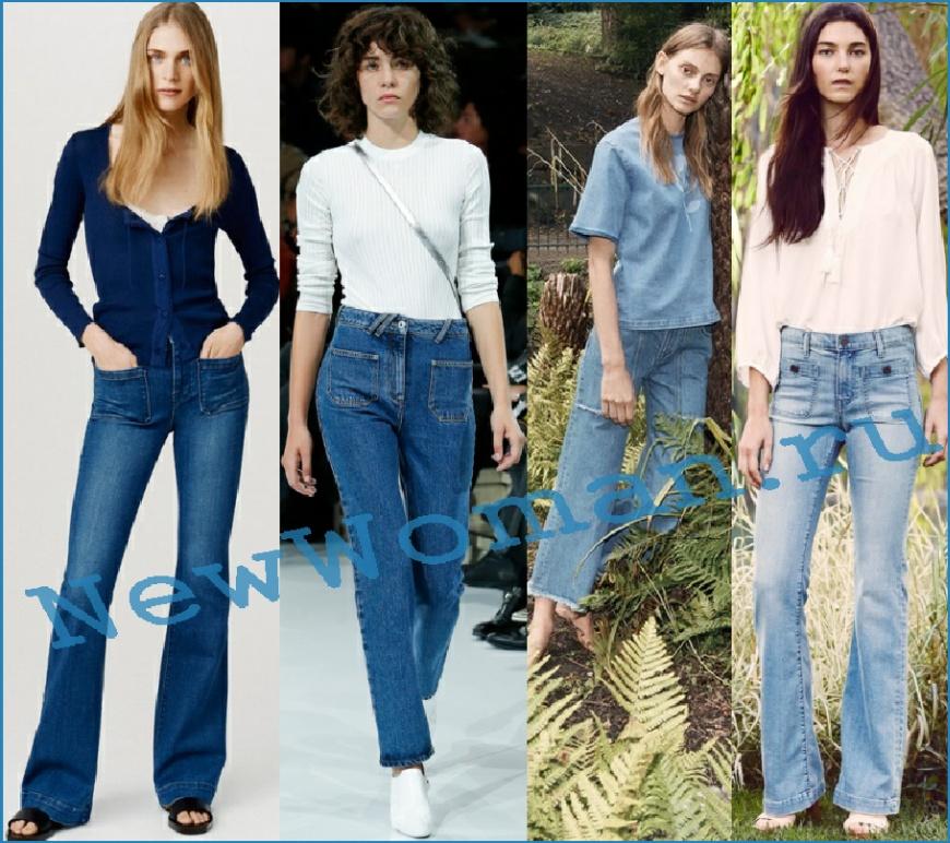 Модные джинсы 2016 с накладными передними карманами
