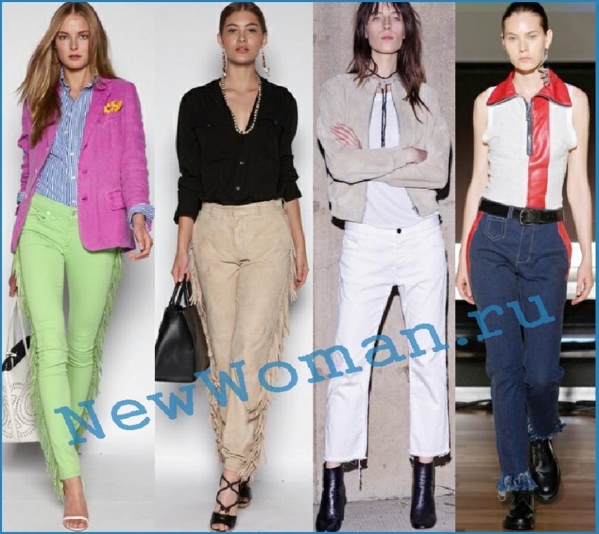Джинсы с бахромой - модный тренд 2016 года