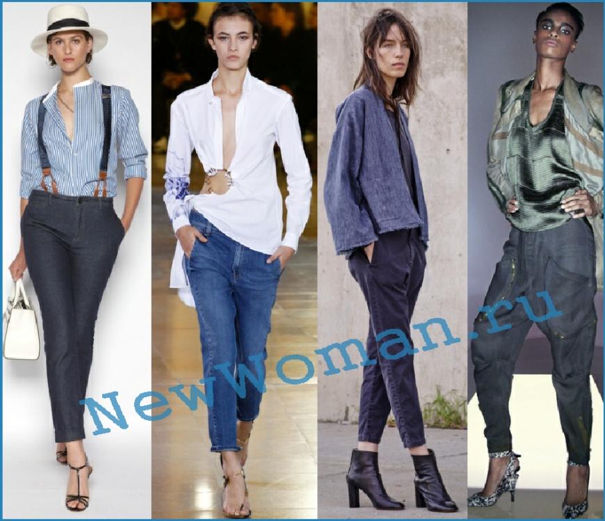 Зауженные модели джинсов сезона весна лето 2016