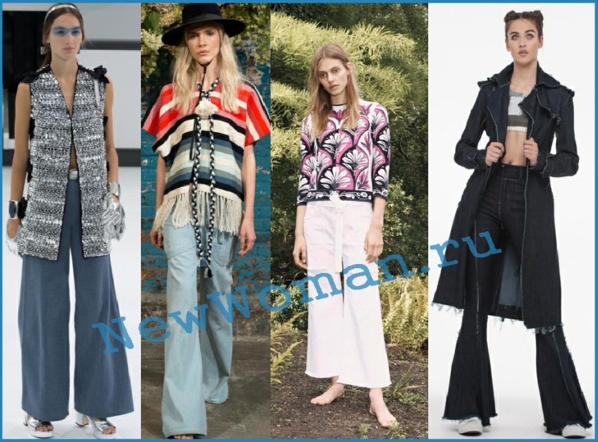 Джинсы-клеш и джинсы-колокол 2016 для женщин - модные тенденции и фото