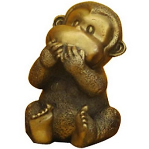 Статуэтка обезьяны из металла