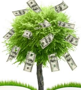 Дерево с долларами