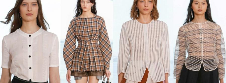 Модели легких блузок