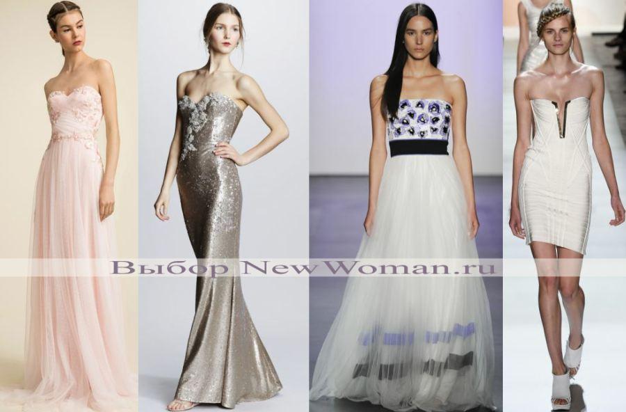 корсетные платья с декорированным лифом