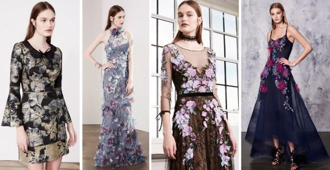 встречаем новый год в платье с цветами