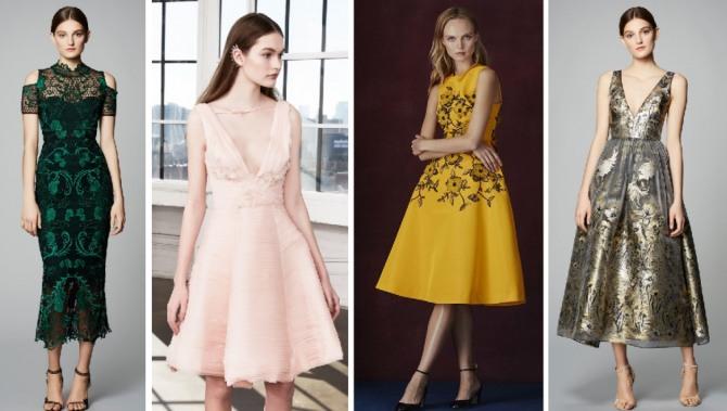 простой крой, платье-футляр и пышная юбка