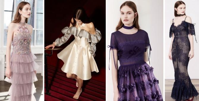 модные модели платьев для встречи нового года