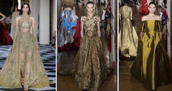 роскошные платья цвета золота для новогоднего торжества 2019