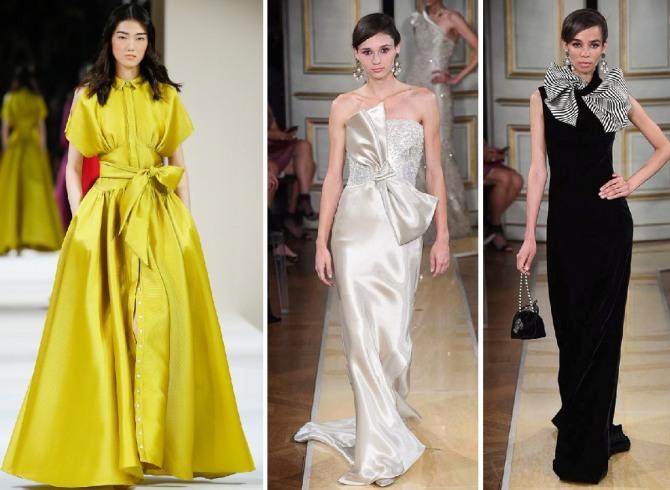 изысканные вечерние платья с бантами из последней кутюрной коллекции