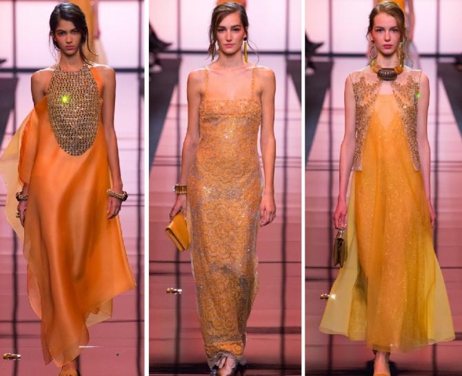 оранжевые новогодние платья в год желтой Свиньи 2019