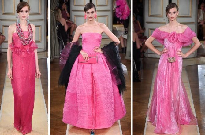 новогоднее платье 2019 розового цвета - новинки от кутюр
