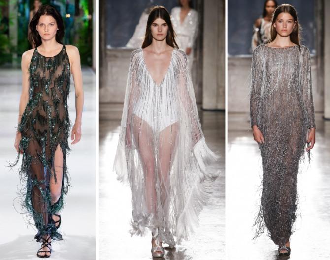 новинки новогодних платье с бахромой и золотыми блестящими нитями