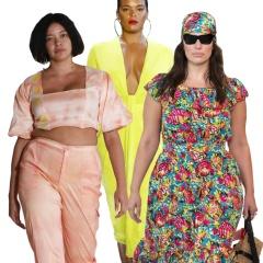 Летняя мода 2019 для полных | Летние платья и костюмы 2019 для пышек - фото с модных показов