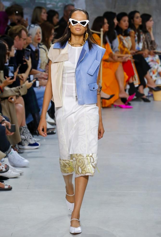двухцветная куртка женская голубой и светло-коричневый цвет