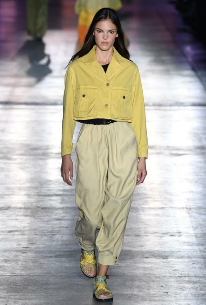 короткая курточка желтого цвета для девушки