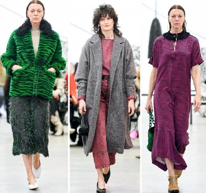 куртки, пальто, платья для женщин 60 70 лет - фото с модных показов 2019 года