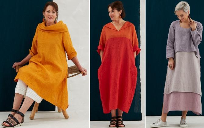 мода для пожилых на 2019 год - красивые летние платья свободного кроя