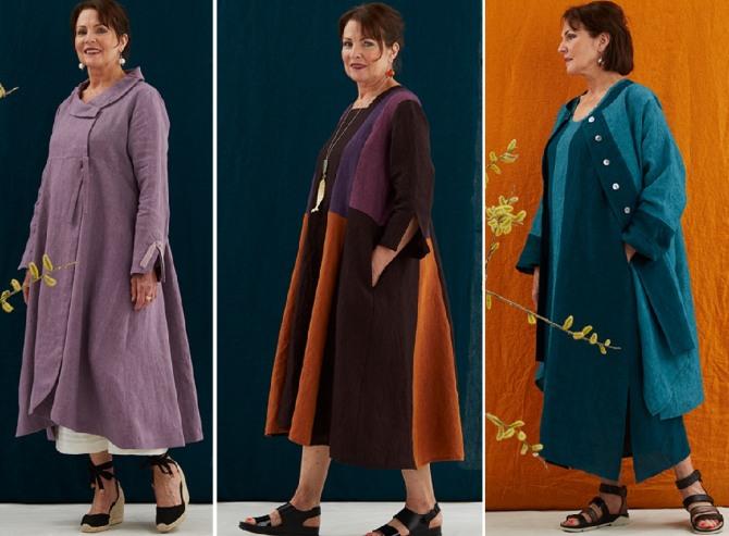 стильные элегантные платья и пальто ярких расцветок на весну 2019 для женщин пожилого возраста