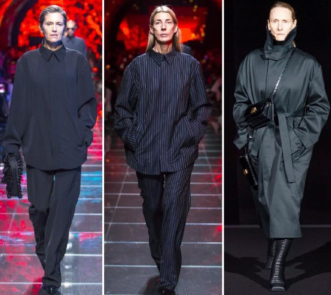 модная одежда для возрастных женщин темного цвета