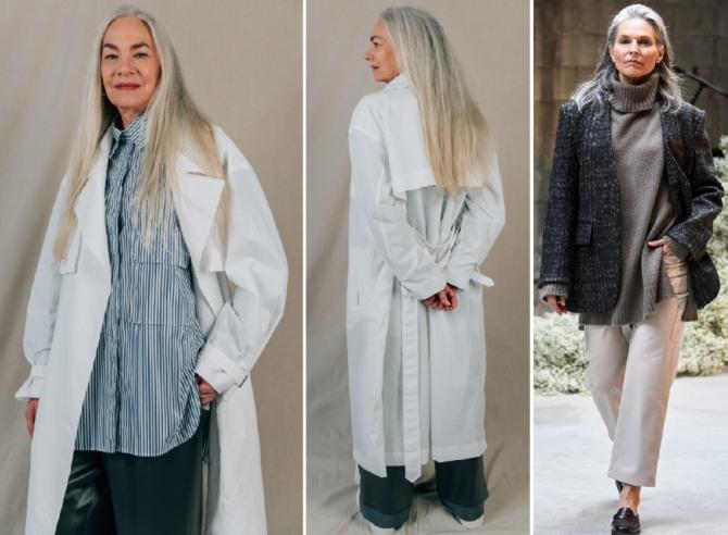 седые старушки модели в модной одежде