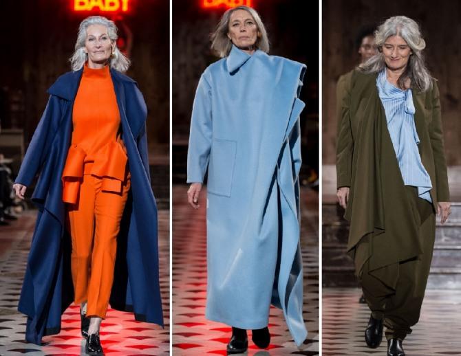пальто макси для пожилых женщин