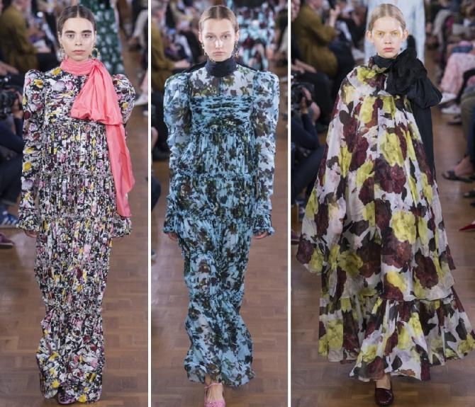 шифоновое платье для пожилых женщин - мода 2019 года