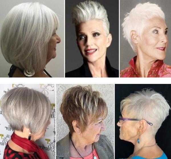 стильные современные стрижки и прически для женщин 65 лет, которые омолаживают