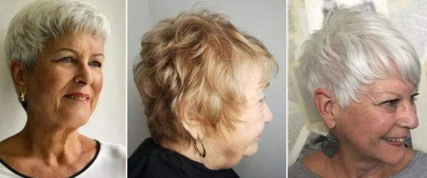 короткие стрижки для пожилых женщин 70 лет - фото
