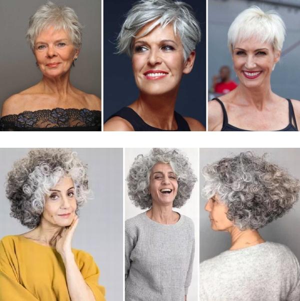 какую омолаживающую стрижку выбрать для седых волос в 50 лет