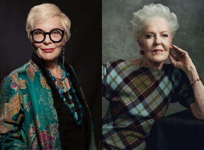 элегантные образы пожилых женщин за 75 с аккуратными стрижками