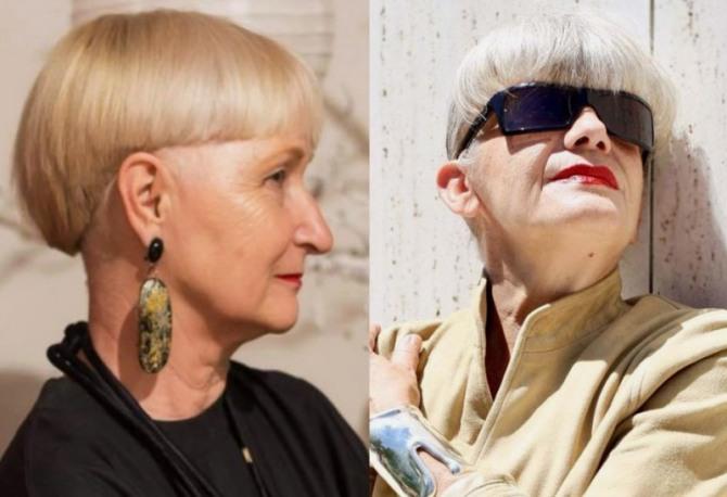 стрижки с челкой для женщин 65-69 лет, желающих выглядеть моложе