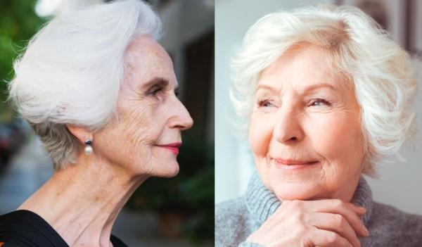 ухоженные седые бабушки-леди