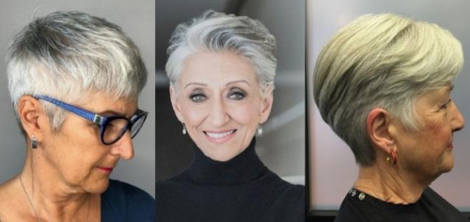 фото стрижки гарсон - модели женщины за 60
