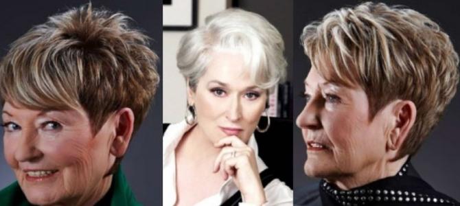 Фото коротких женских причесок и стрижек для 60-летних женщин, которые омолаживают и скрывают возраст