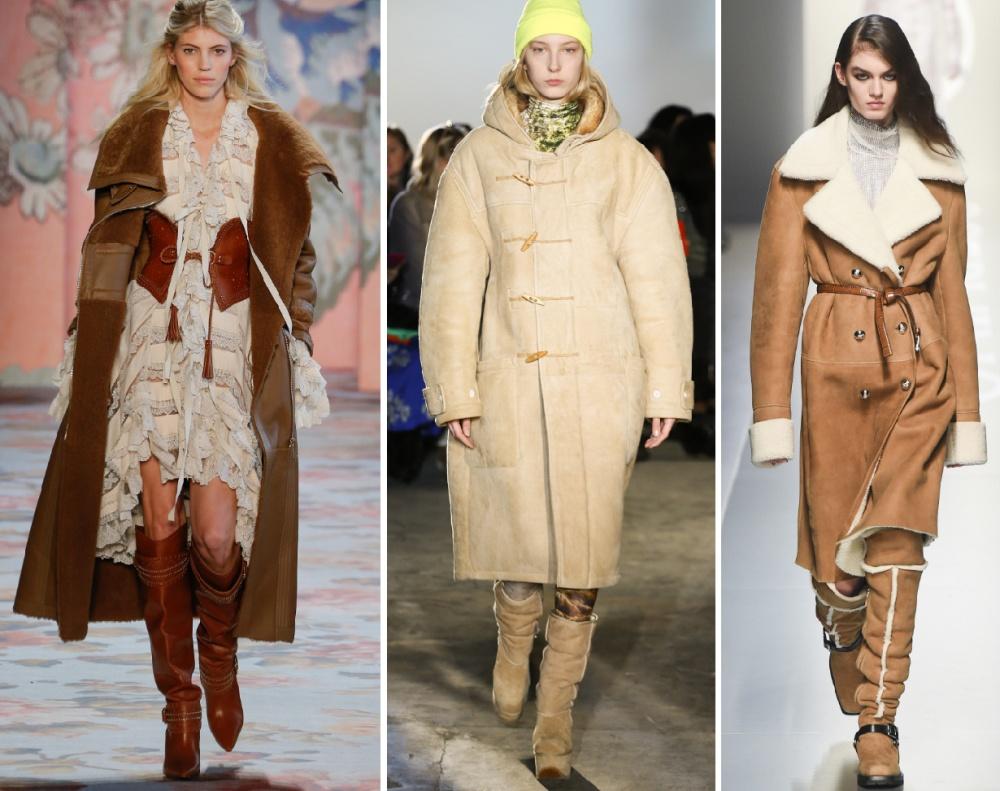 Модные зимние дубленки – 2019 картинки
