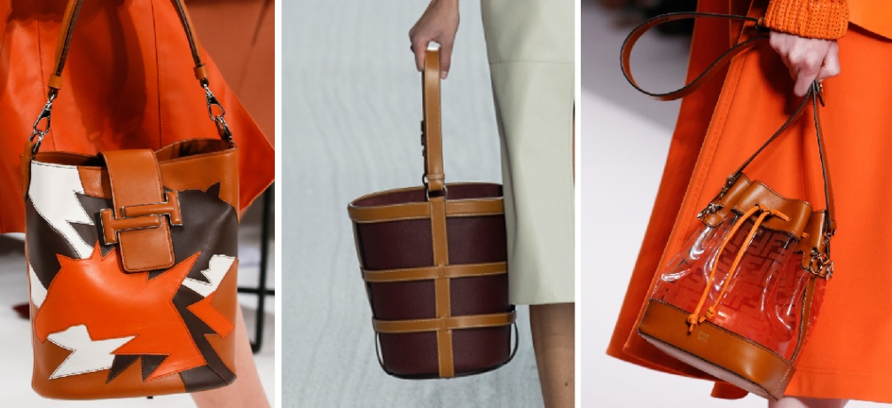 красивые и модные дизайнерские сумки 2019 с модных показов мировых столиц -  сумка ведро в тренде caad114839f