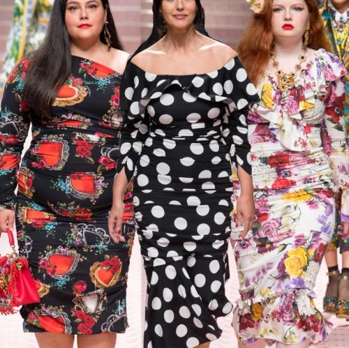 503371b67000652 Летние вечерние платья 2019 для полных - фото модных фасонов с подиума