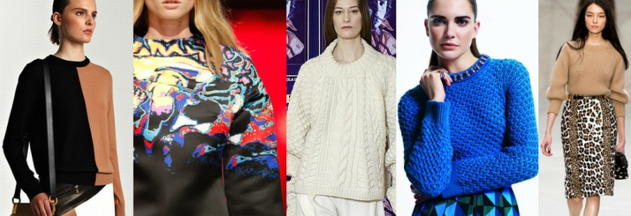 Модный женский свитер 2015