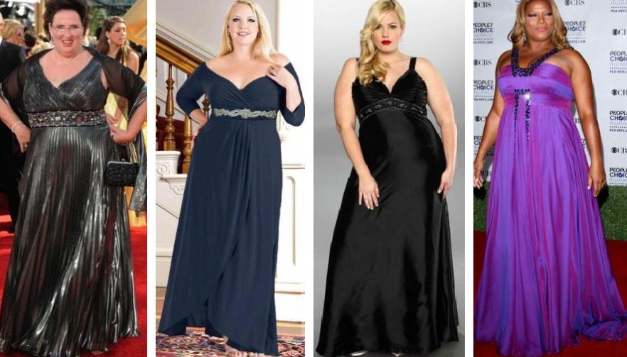 Нарядное платье для полных женщин в греческом стиле