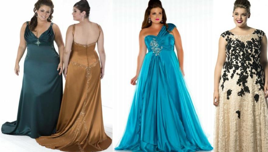 платья 2016 фото для полных вечерние