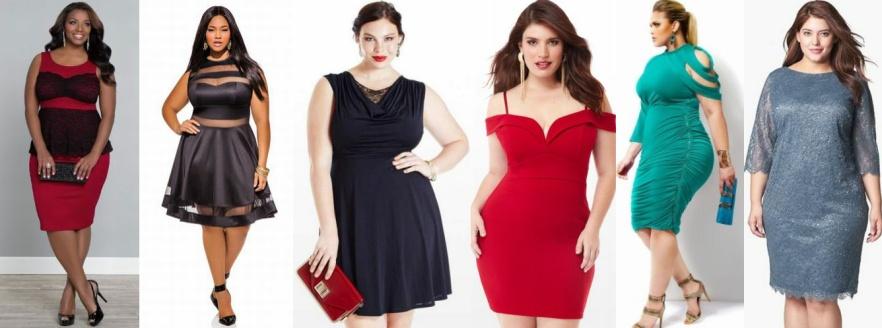Женские платья для толстушек