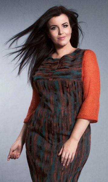 платья для полных на осень фото