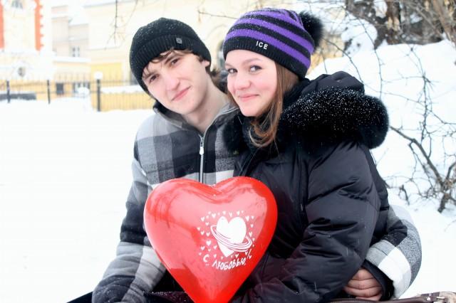 Иркутские пары в день всех влюбленных