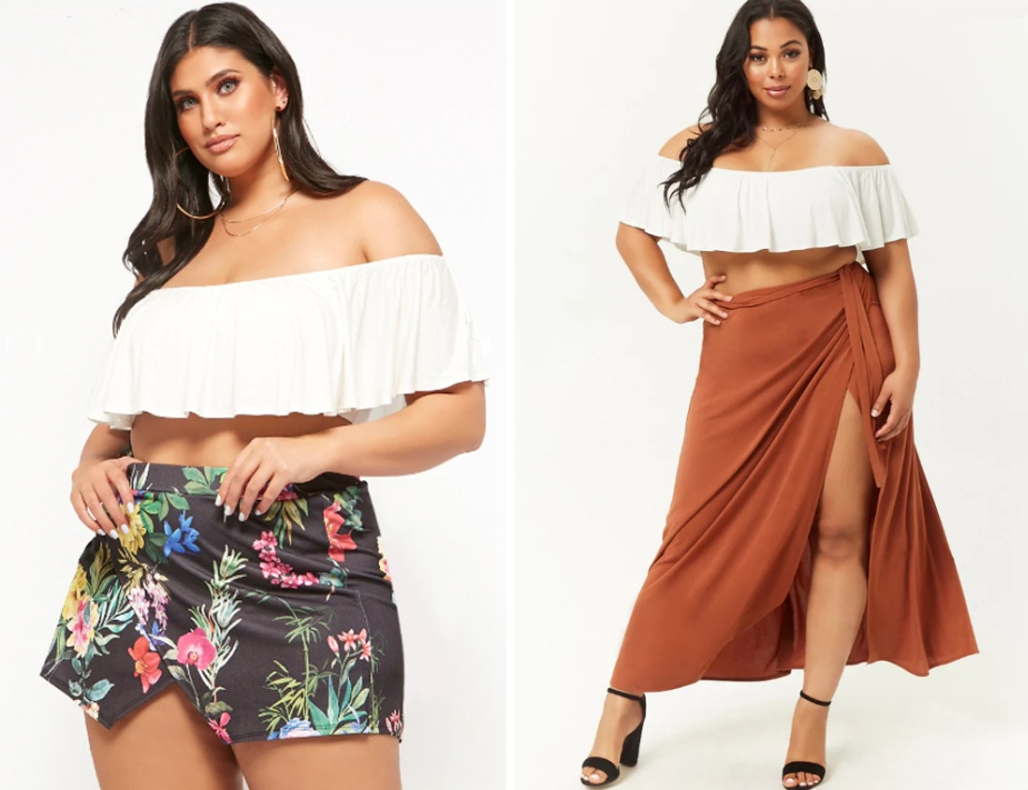 460af73f207 Модные летние юбки для полных девушек и женщин  фото