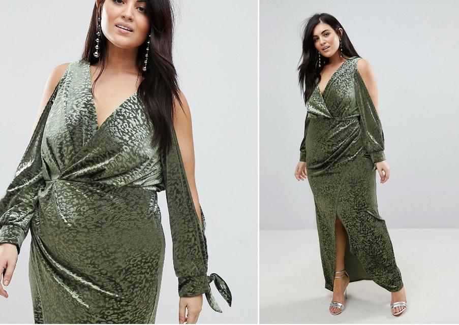 72060d87500 вечернее изумрудное блестящее платье - фасон для полных девушек и женщин