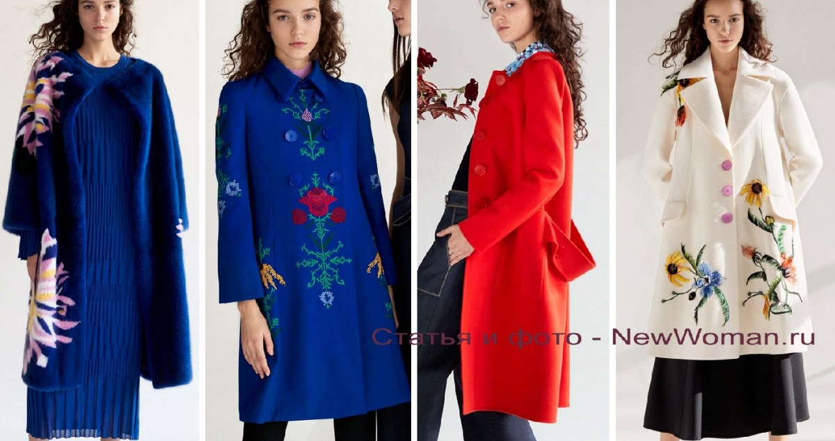 4a95d9d1661 модные пальто для девушек осень-зима 2018 2019 - синего цвета