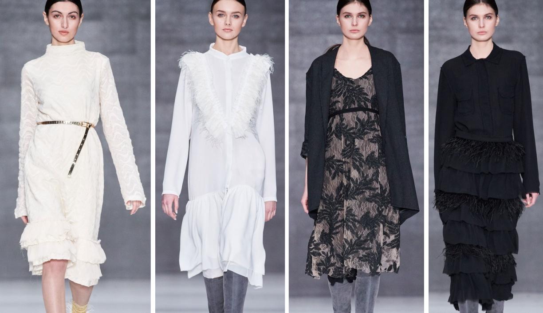 5a366dc459d модные зимние платья 2018 от Tako Mekvabidze