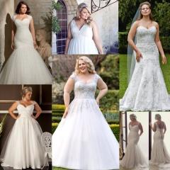 Самые красивые свадебные платья для полных 2017 2018 - новинки, фото 41498e191d9